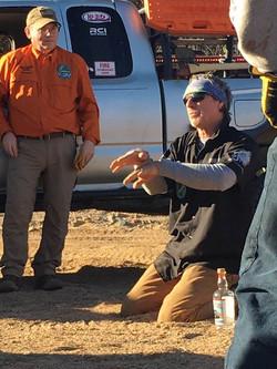 With Bill burke in Arizona