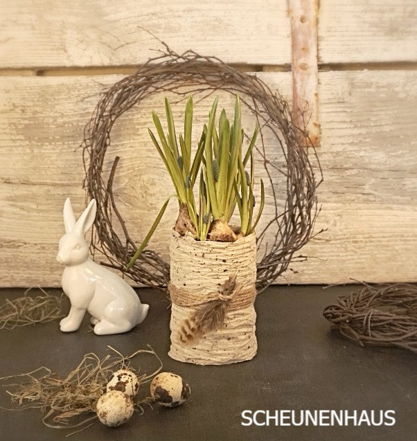 Frühlingsdose mit Hase