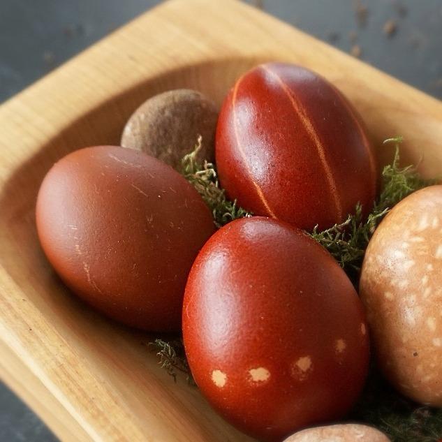 Eier mit Muster