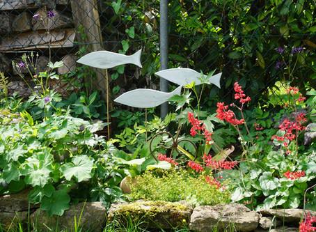 Fischstecker für den Garten