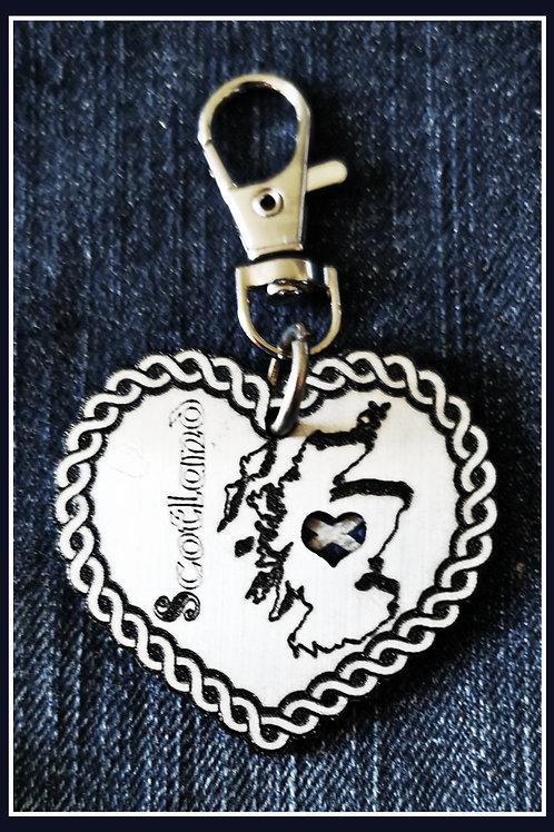 Schlüsselanhänger Scottish Heart