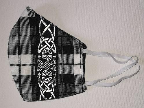 Behelfsmaske Wendemaske Tartan Black & White
