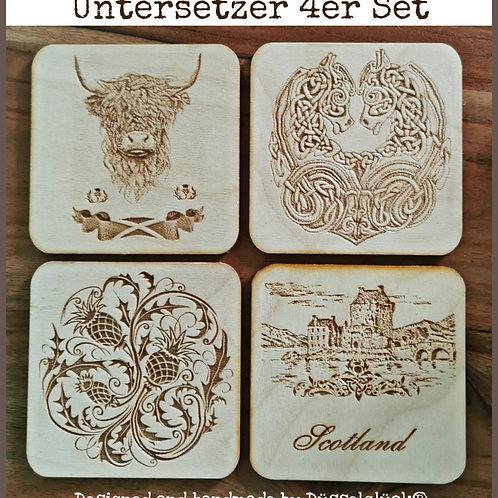 Untersetzer 4er Set No. 1