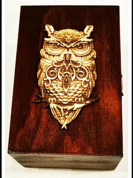 Celtic Owl - Holzkiste
