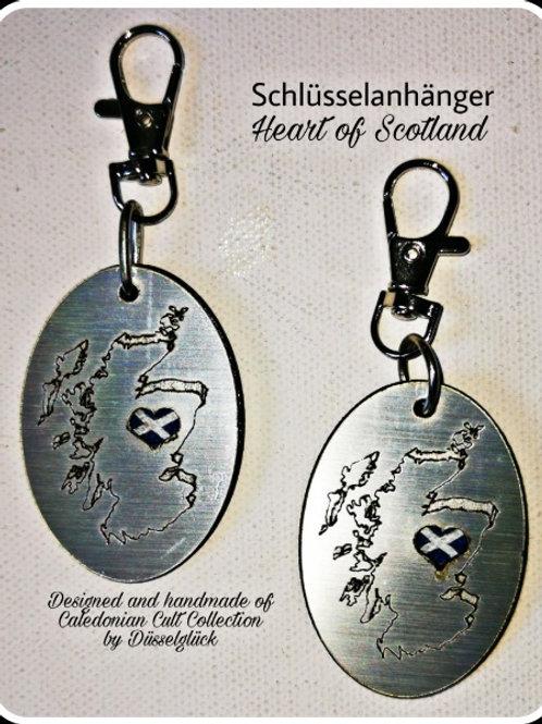 Schlüsselanhänger Heart of Scotland