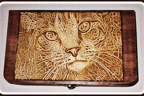 Holzkiste Cat Celtic Knots - Big Box