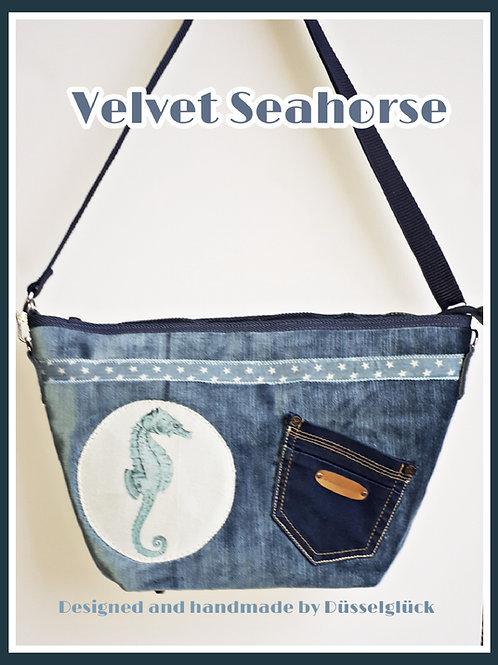 Velvet Seahorse - Tasche aus Samt