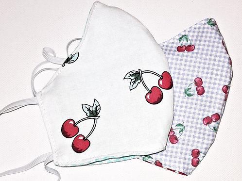 Behelfsmaske Wendemaske 2er Set Cherry
