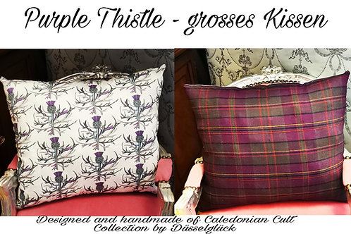 Purple Thistle - Grosses Kissen