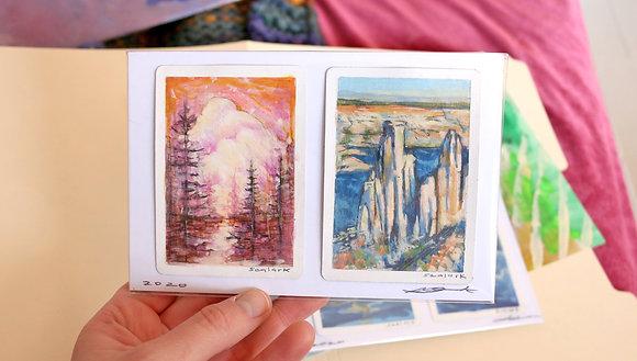 Landscape Pillars Pair