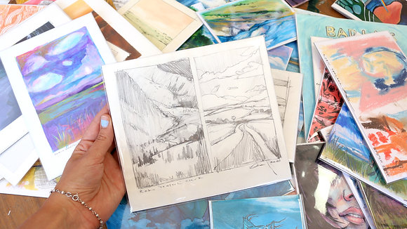 Two Landscapes Sketch