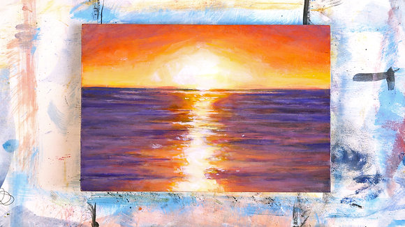 Purple Coast at Sunset
