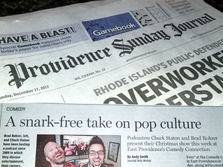 """Providence Journal - """"A snark-free take on pop culture"""""""