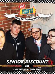 Senior Discount at Warped Tour 7/15!