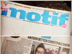 """Motif Magazine - """"An Even Better Christmas Show"""""""