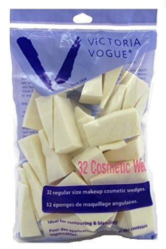 Victoria Vogue Regular Size Makeup Cosmetic Wedges 32 Pack