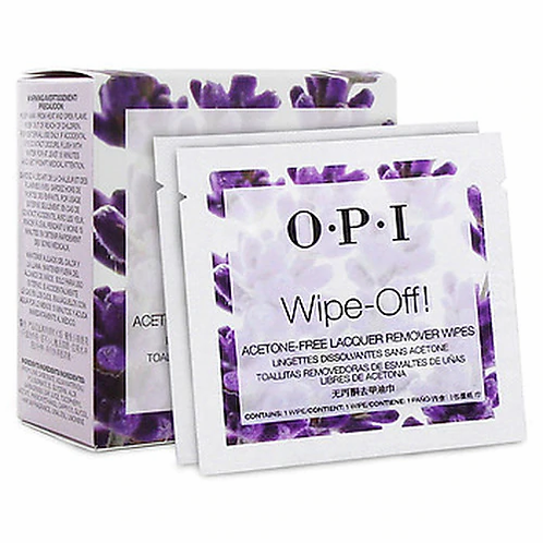 OPi Wipe Off Acetone Free Lacquer Remover Wipes 10ct