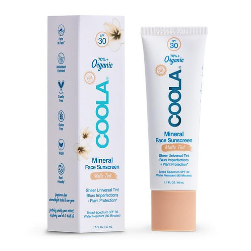 Coola Mineral Face Sunscreen Matte Tint SPF30