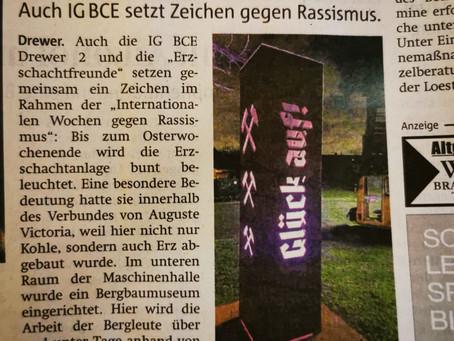 """Die Marler-Zeitung berichtet über """"Der Erzschacht leuchtet"""""""