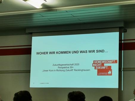 """Workshop """"Zukünftige Ausrichtung der Gewerkschaftsarbeit im Bezirk Recklinghausen"""""""