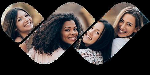 women friends smiling