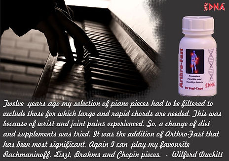 Arthrofast helps piano players