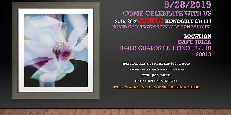 2019-20 NAWIC Chapter #114 Board Installation Dinner