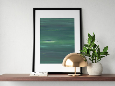 absztrakt zöld poszter
