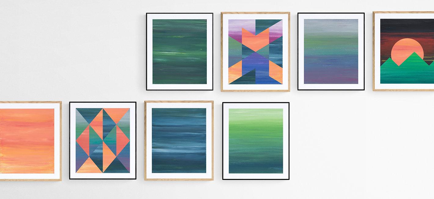 modern absztrakt poszter geometrikus minta művészi kép