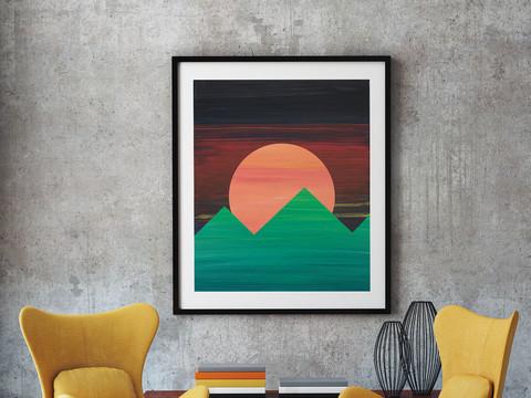 sárga fotel napfelkelte hegyek.jpg