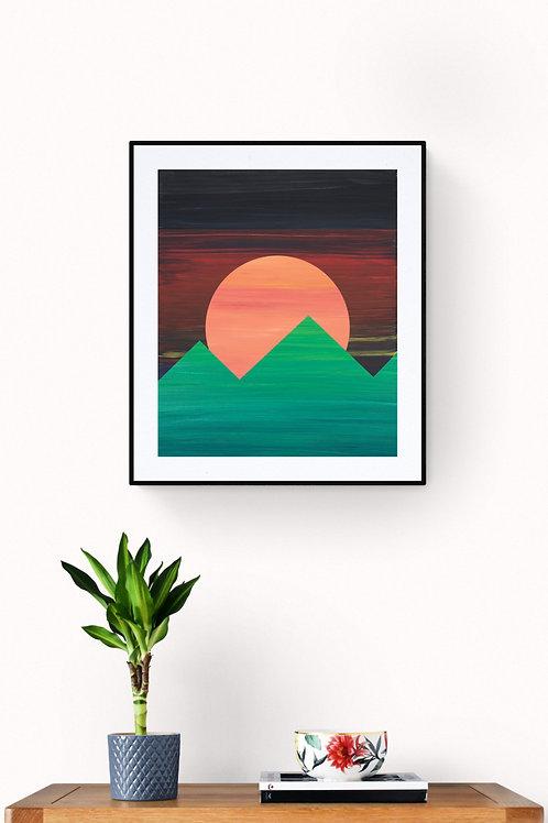 Geo2 - naplemente hegyek