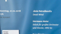 Hermann Meier an den Donaueschinger Musiktagen