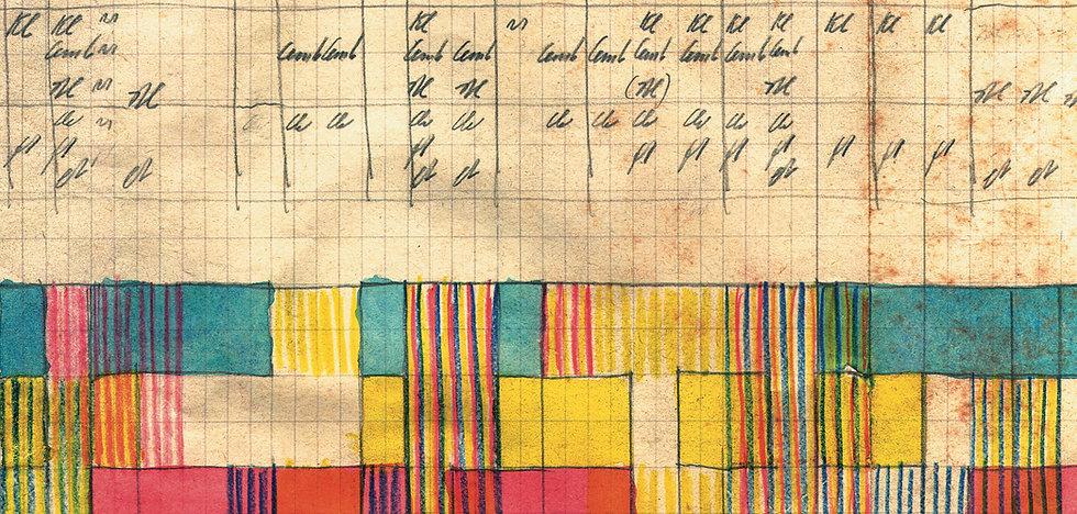 Plan mit Stenografie  von Komponist Hermann Meier