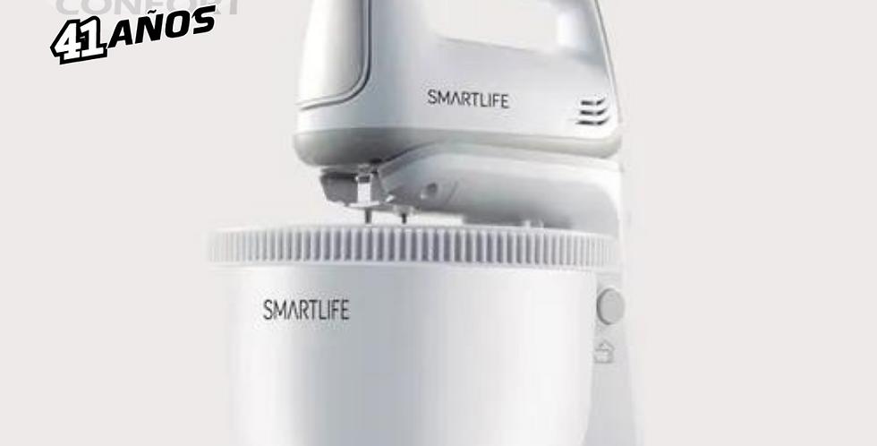 BATIDORA DE PIE CON BOWL PLASTICO SMARTLIFE SLHM5035PN