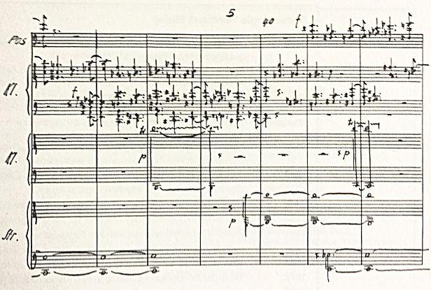 Hermann Meier, Stück für Orchester, Werner Heisenberg gewidmet (1968)  © aart-verlag Bern und Paul Sacher-Stifung, Basel