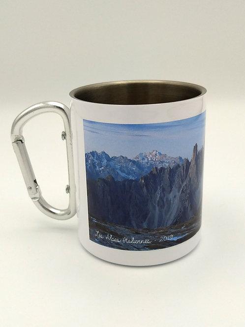 Mug métal inoxydable mousqueton