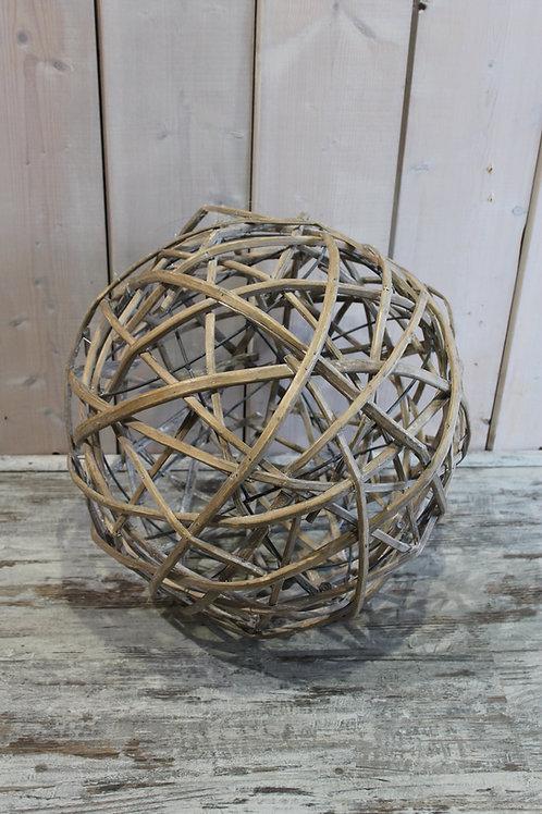 LOC043 - Boule osier 50cm Grise