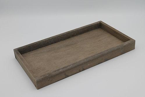 LOC237 - Centre de table bac bois 30x16x3cm
