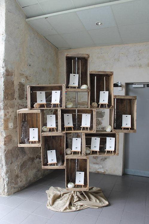 LOC111 - Plan de table caisses de pomme + chevalets