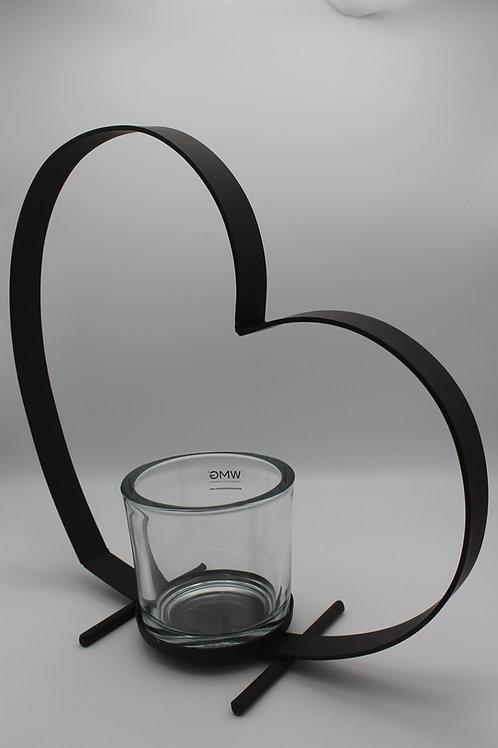 LOC170 - Centre de table Métal coeur 40cm Bebi