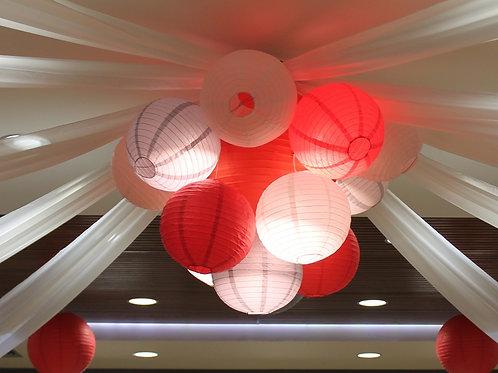 LOC145 - Suspension éclairant boules chinoises