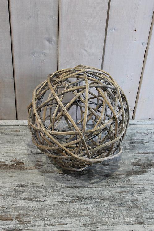 LOC044 - Boule osier 40cm Grise