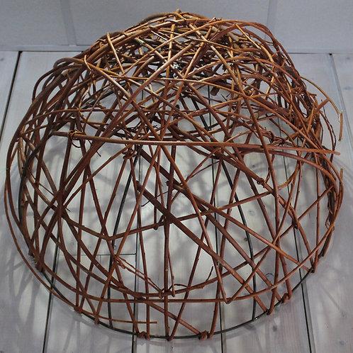 LOC058 - 1/2 Boule osier plafond 80cm Chocolat ou Noire