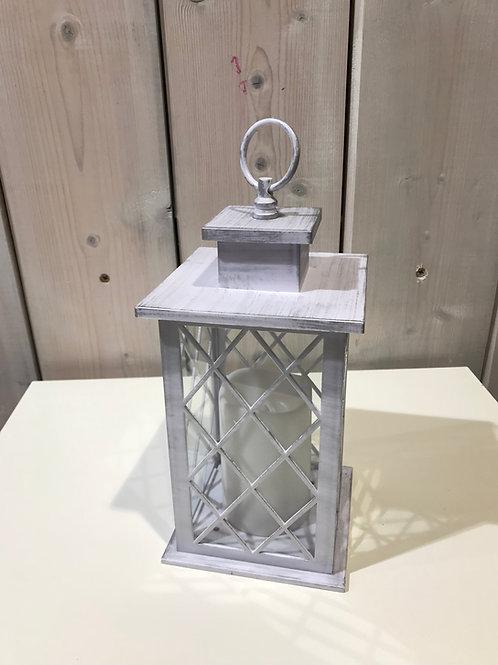 LOC153 - Centre de table Lanterne 30cm Led blanc