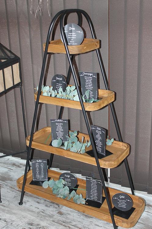 LOC224 - Plan de table Pyramide Bois métal