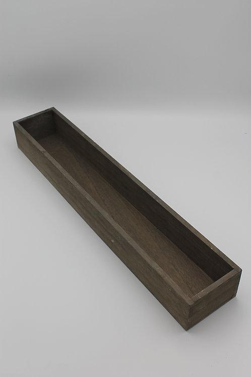LOC239 - Centre de table bac bois 50x9x6cm