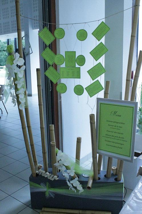 LOC116 - Plan de table support éclairant bambou