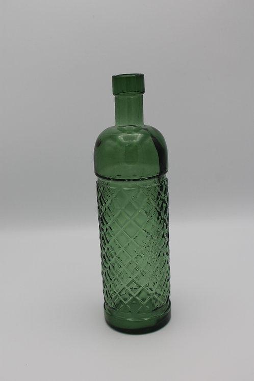 LOC218 - Centre de table verre bouteille 24cm couleur vert