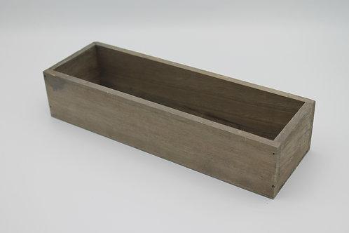 LOC238 - Centre de table bac bois 28x9x6cm