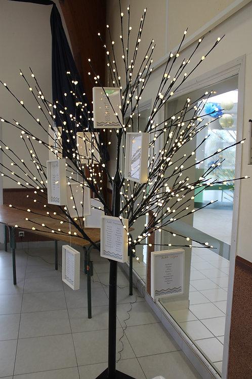 LOC190 - Plan de table arbre lumineux noir Grand modèle